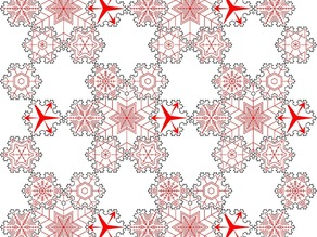 Snowflake Tessellation/Holiday Ornament
