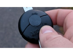 Replacement button for smartcar key