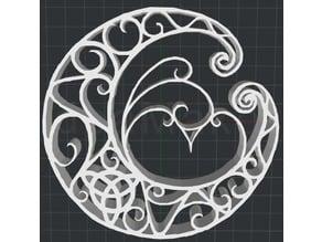 Celtic Moon 2D Wall art