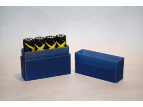 Simple AA Battery (x4) Holder