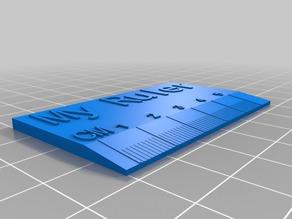 My Customized ruler