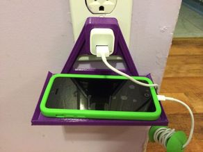WALL OUTLET CELLPHONE HOLDER (IPHONE & IPOD) - Remix