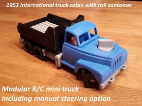 Manual/RC modular mini truck - 1954 International truck cabin