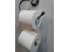 Double Toilet Paper Roll Hanger