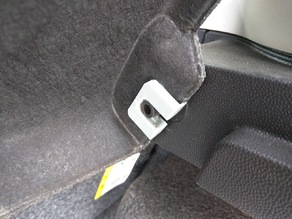 Ford Fiesta cargo cover bracket