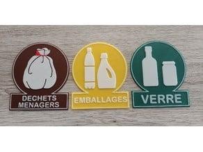 Logos de tri sélectif
