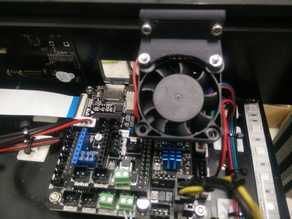 Cooling Fan mount for East3D Gecko Stepper Drivers