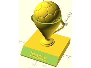 Soccer Trophy (OpenSCAD)