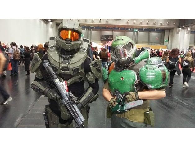 Doom Armor Praetor Suit Pauldrons By Kit Raevson Thingiverse