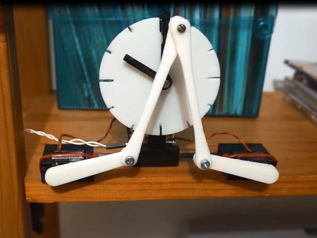 3D printed kinetic Servo clock by aeropic - Thingiverse