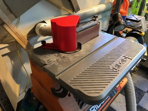 Rigid Table Sander Second Dust Port and Shroud