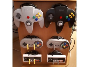 NES, SNES & N64 controller wall mounts