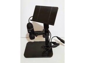 Smartphone holder for USB microscope