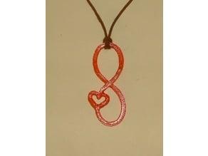 Valentine Infinity  Pendant