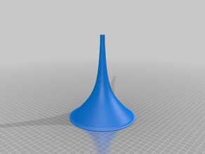 NEXTFILA - 3D printed gramophone horn - straight