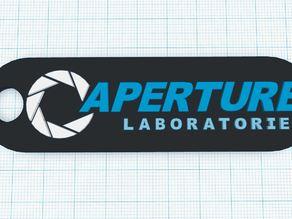 Aperture Science + Science Innovators Keychains