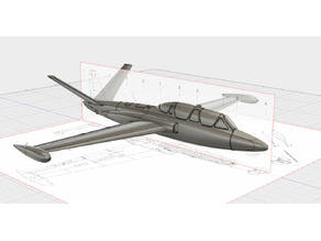 Easy to print Fouga Magister (esc: 1/64)