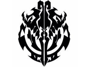 Overlord Nazarick symbol stencil