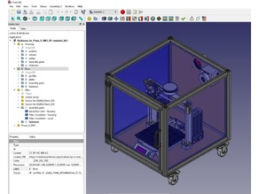 Enclosure for Prusa i3 MK3 based on 30x30mm stock aluminum extrusions