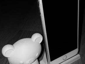 Rilakkuma bear with iphone stand/business card holder_2