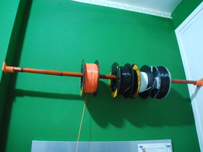 Universal wall spool holder