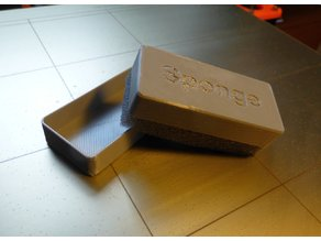 Hot Bed Sponge Box for cleaning and coating