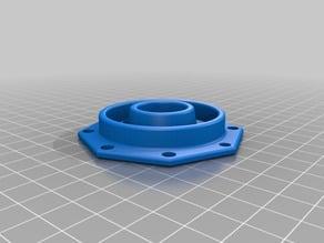 fixation bobine D.52mm,  pour tube électrique D. 20mm