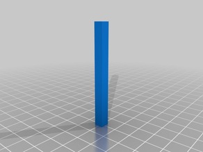 5.4 x 5.4  Alignment Peg for 20x20 T-Slot, 60 mm in length