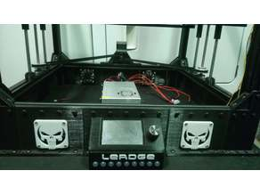 Lerdge Tronxy X5s raised base for power, electronics, cooling, etc.with options
