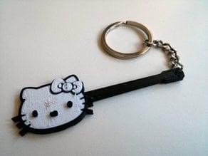 Hello Kitty Les Paul Keychain