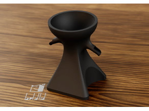 Aeropress pouring stand for two cups