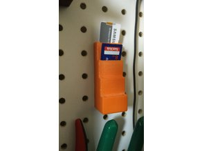 Peg board SD Card Holder