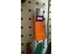 Peg board SD Card Holder