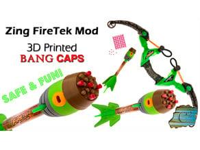 Zing Bangers:  Extra Loud Bang Cap Firetek Arrows