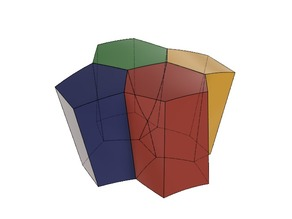 Scutoid, Four Cell Configuration