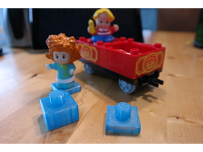 Lego Duplo adapter to Fisher Price Little People