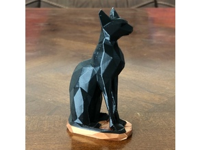 Low polygon Egyptian Cat - fixed orientation