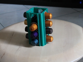 Nespresso coffee capsule organizer