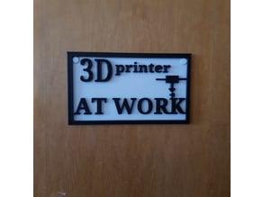 2D door sign panel
