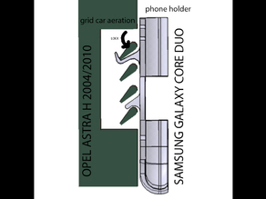 phone holder for Samsung Galaxy core duo for Opel Astra H 2004/2010
