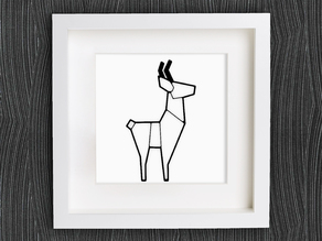 Customizable Origami Deer