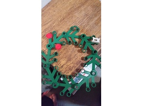 Lego Leaf Wreath, No supports, widened, and optional Hanger