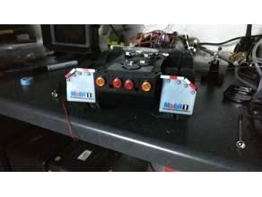 Mudflaps in US-Style for Tamiya Tractor Trucks; Schmutzlappen mit Halter für Tamiya US-Trucks 1:14