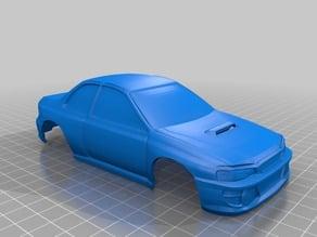 MiniZ Subaru Impreza 22B 90mm Body
