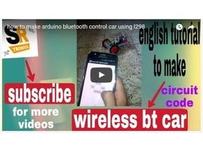 arduino smartphone app control car using l298n motor driver