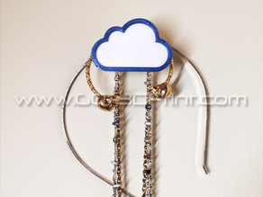 Coat / Jewelry Hanger Organizer Weather Wall Hook – Cloud