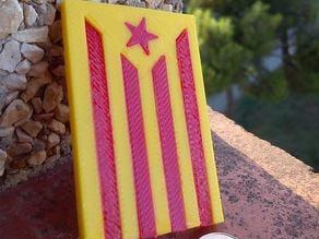 Estelada 3D - Catalan Independentist Flag