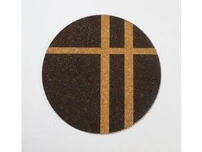 Laser Cut Coasters made of Cork sheet