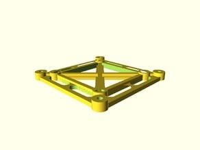 Printable Parametric VESA 75/100 Adaptor - Parametric