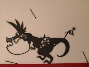 Patapon boss Dodonga decorative wall figure
